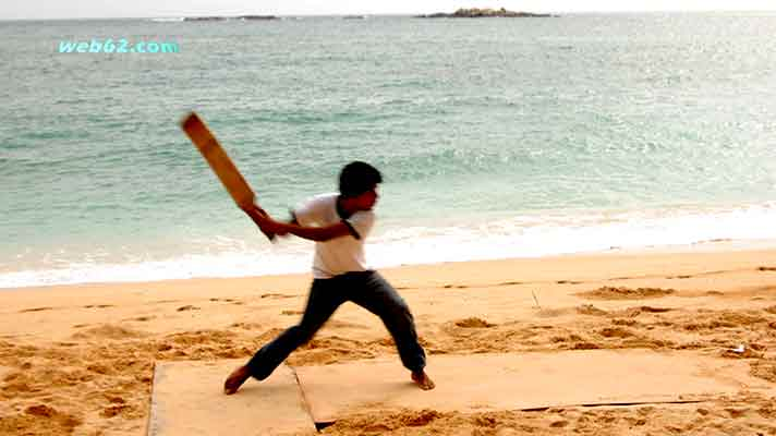 Beach Cricket Sri Lanka